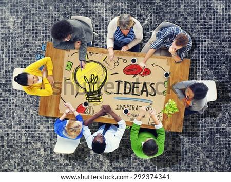 Ideas Innovation Creativity Knowledge Inspiration Vision Concept - stock photo