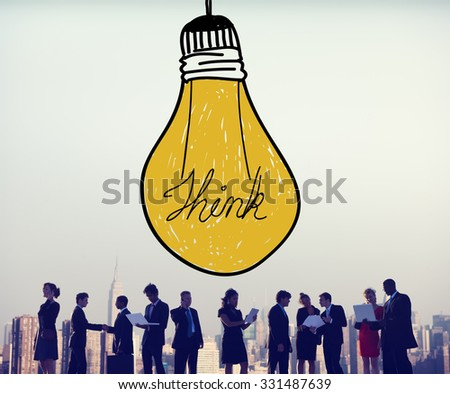 Ideas Inspiration Think Creative Bulb Concept - stock photo
