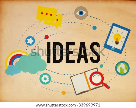 Ideas Inspiration Think Creative Research Concept - stock photo