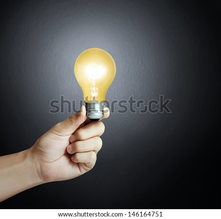 Ideas light bulb in a hand