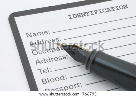 identification - stock photo