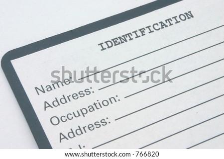 identification #2 - stock photo
