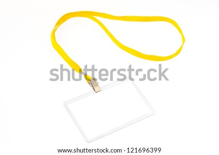 Identification card - stock photo