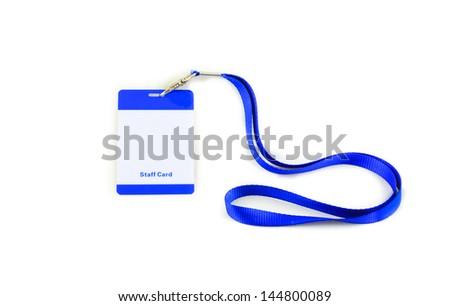 Identification card  on white - stock photo