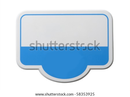 Identity badge in blue with clipping path - stock photo