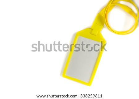 Identity card on white background. - stock photo