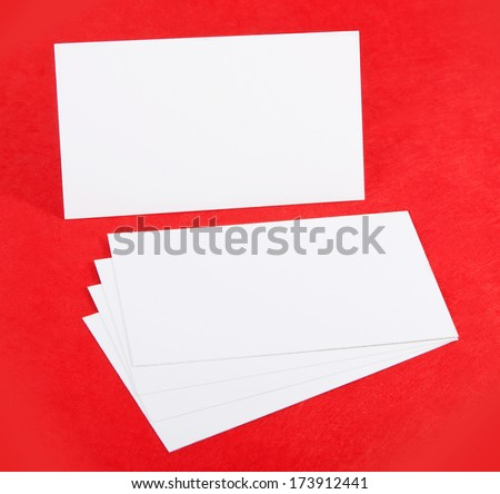 identity design, corporate templates, company style, blank business cards on red background