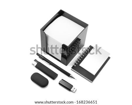 identity design, corporate templates, company style, set of office stationery - stock photo