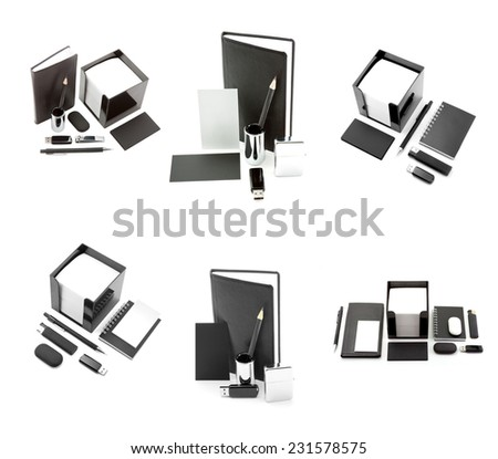 identity design, corporate templates, company style, set of office stationery, isolated on white background - stock photo
