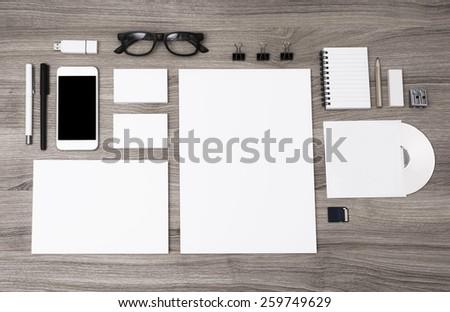 Identity design template - stock photo