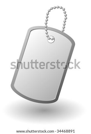 identity tag or dog tag or identity plates (jpg) - stock photo