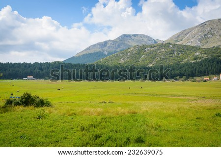 Idillic mountain landscape in summer in Montenegro, Europe - stock photo