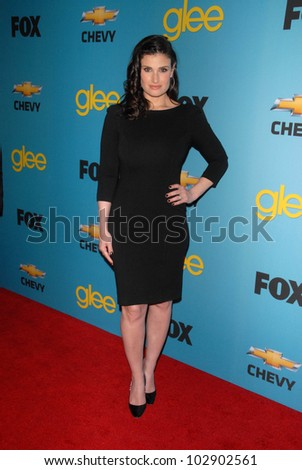 "Idina Menzel at Fox's ""Glee"" Spring Premiere Soiree, Bar Marmont, West Hollywood, CA. 04-12-10"