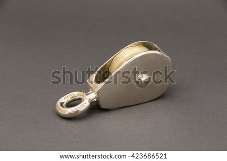 idler pulley - stock photo