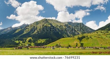 Idyllic alpine village of Holzgau, Lechtal, Austria. - stock photo