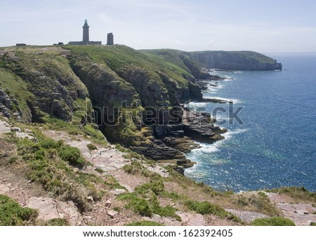 Idyllic coastal scenery at Cap Frehel in Brittany, France