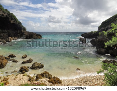 idyllic coastal scenery on a caribbean island named Guadeloupe
