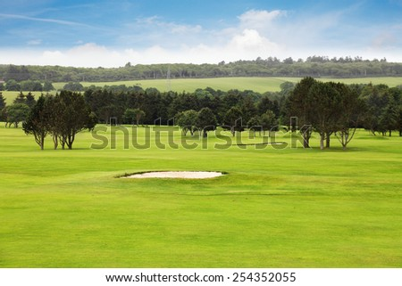 Idyllic golf course scenery