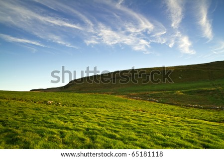 Idyllic irish scenery - stock photo