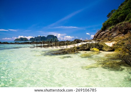 Idyllic Island Big Stones  - stock photo