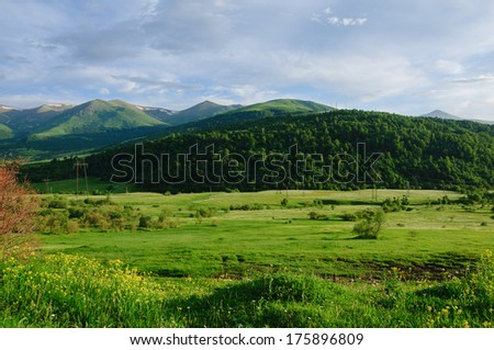 Idyllic landscape - stock photo