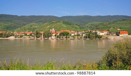 idyllic Landscape in Wachau Valley at Danube River,Austria