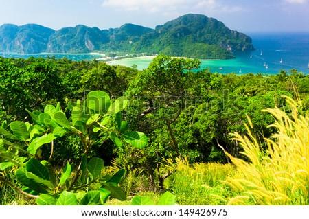 Idyllic Panorama Vacation Wallpaper  - stock photo