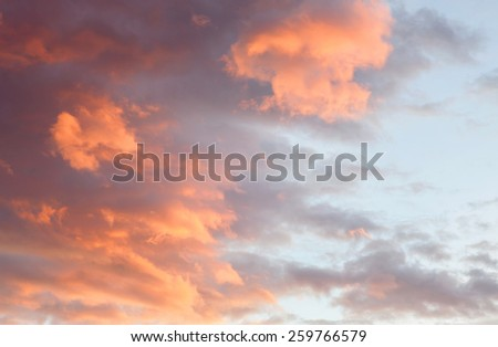 Idyllic red sky during a nice sunset - stock photo