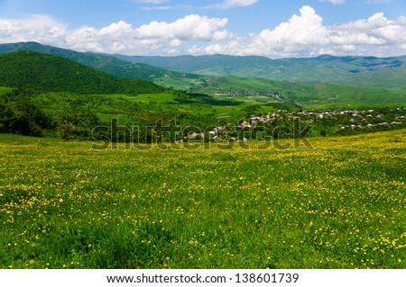 Idyllic rural landscape - stock photo