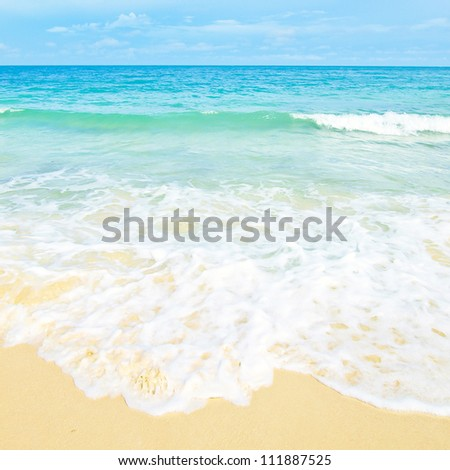 Idyllic Scene Beach at Samed Island,Thailand - stock photo