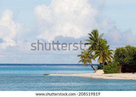 Idyllic scene of travel destination - stock photo