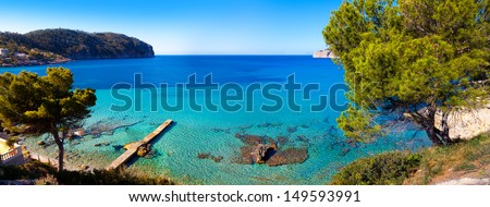 Idyllic Sea View in Mallorca, Spain - stock photo
