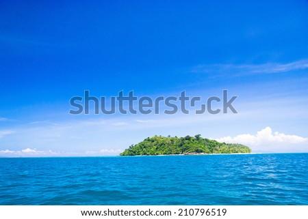 Idyllic Seascape Sea Scene  - stock photo
