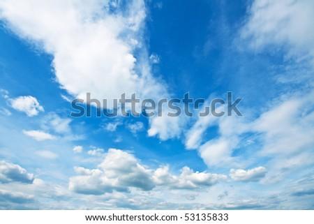 Idyllic sky in spring - stock photo