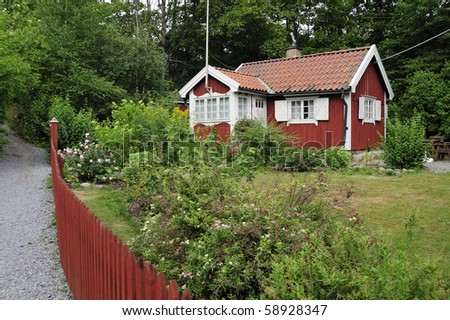 Idyllic summer house - stock photo