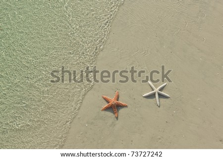 Idyllic summer vacation background with copy space - stock photo