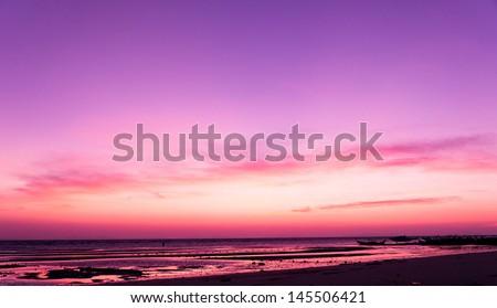 Idyllic Wallpaper Setting Sun  - stock photo