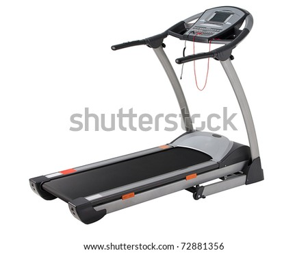 If you can not jogging in the park the treadmill is the answer - stock photo