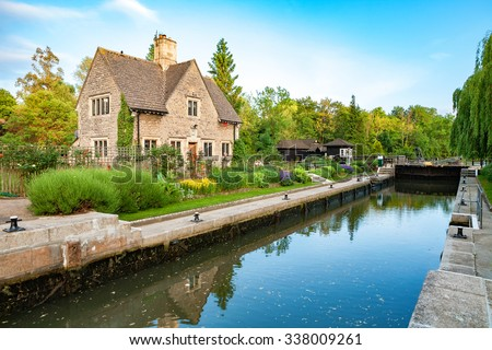 Iffley Lock on the river Thames. Oxford, England - stock photo