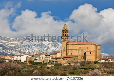 Iglesia de Nuestra Se?ora de la Asuncion, Elvillar, Alava, Spain - stock photo