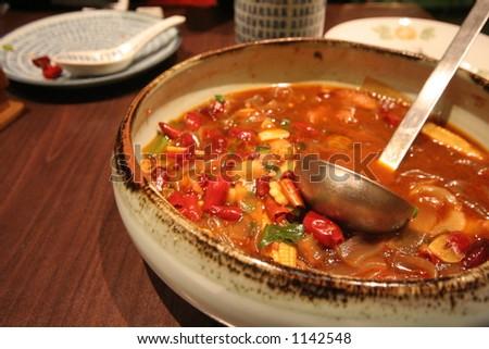 Ignite Your Senses: Spicy Dish - stock photo
