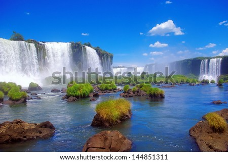 Iguacu Falls, Brazil - stock photo