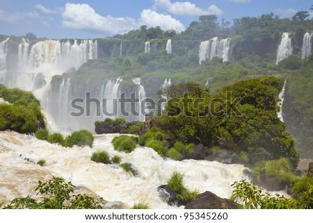 Iguacu Waterfalls, Brazil - stock photo