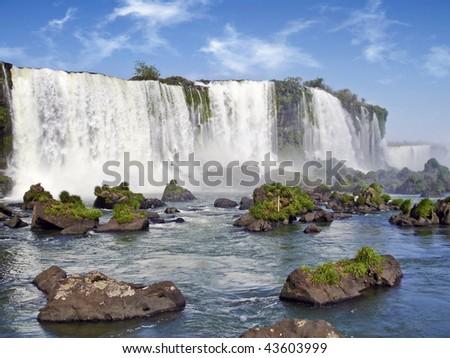 Iguassu falls (Brasil) - stock photo