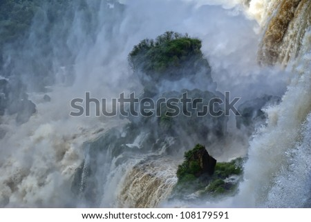 Iguassu Falls, UNESCO World Heritage Sites, New 7 Wonders of the world - stock photo
