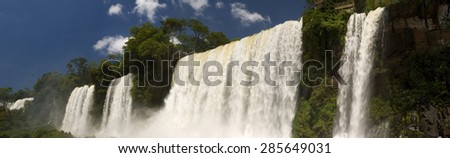 Iguazu falls, the Argentinian side - stock photo