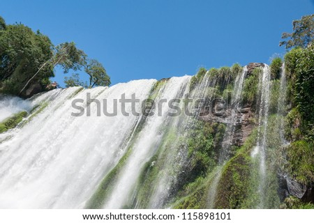 Iguazu falls, View from Argentinian side - stock photo