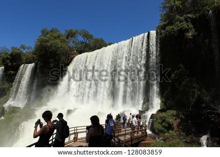 Iguazu Waterfall Argentina - stock photo
