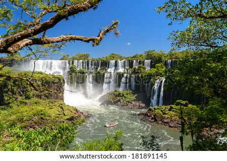 Iguazu waterfall, Argentina  - stock photo