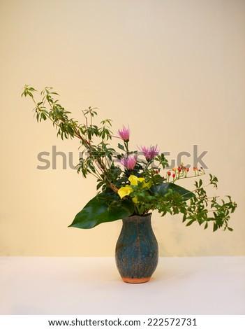 Ikebana. Flower Arrangement. - stock photo